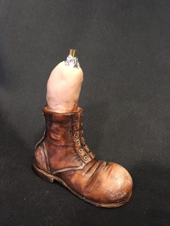 Polymer Clay Boot painting bonus class