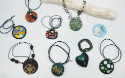 Round Necklaces in Polymer Clay