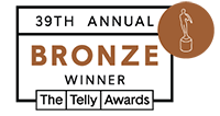 39th Annual Telly Awards Bronze Winner