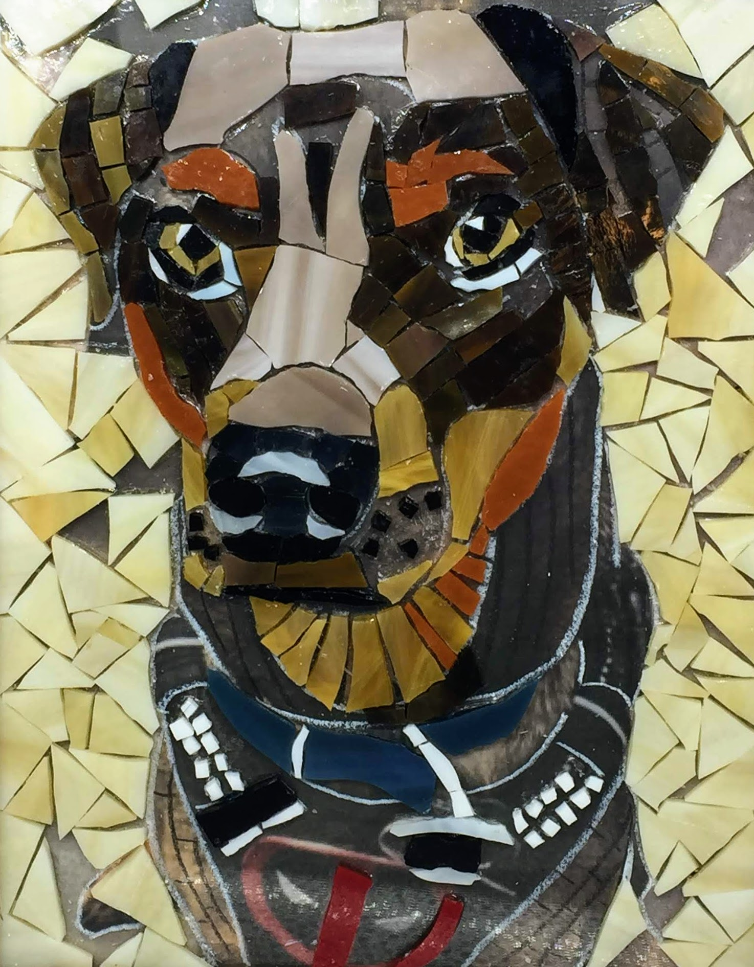 How to Make a Glass on Glass Mosaic Pet Portrait with Angie Halford