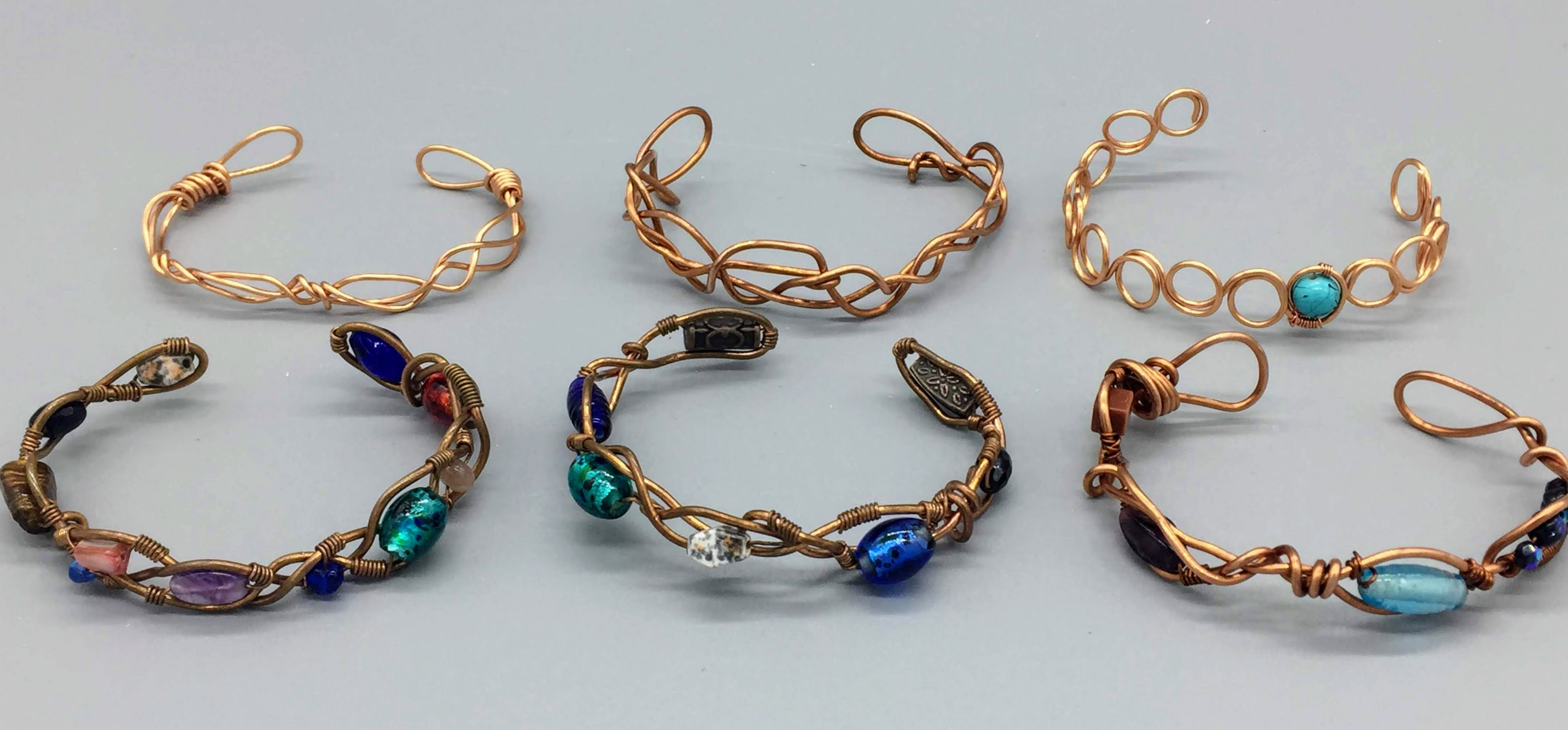 Wire-Wrapped Marbles, Crystals and Shells!