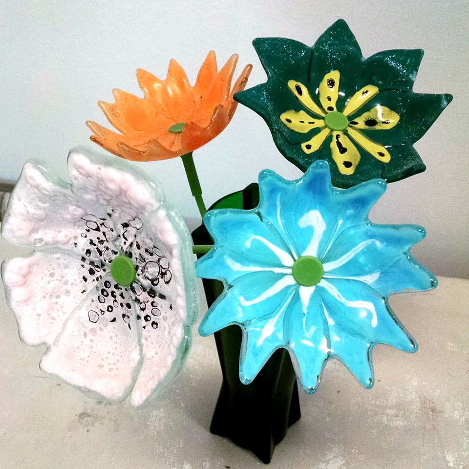 Fused Recycled Glass Flowers LIVE with Jodi McRaney-Rusho