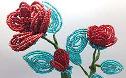 How to Make French Beading Flowers