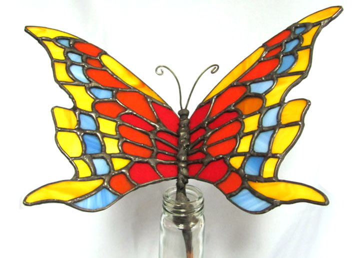 How to Make Stained Glass Garden Art