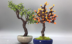 French Beading Mini Trees